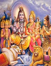 Shiv en Parvati